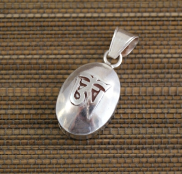 Tibet Ghau mit OM ~ 925 Sterling Silber ~ Prayer Box ~ Tibet Art. 01336