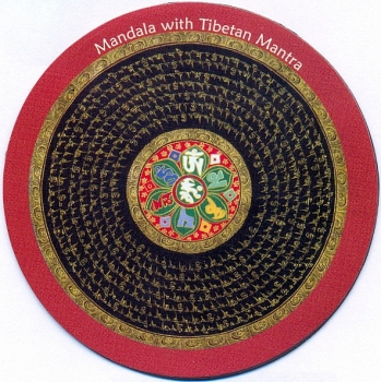 Magnet MANDALA WITH TIBETAN MANTRA Art. 00988