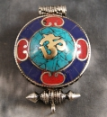 Amulett Tibet Gau ~ OM ~ Prayer Box ~ Lotus-Ghau Art. 01129