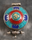 Amulett Tibet Gau ~ OM ~ Prayer Box ~ Lotus-Ghau Art. 01132
