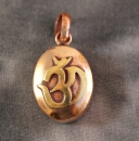 Tibet Gau mini mit OM Sanskrit ~ Kupfer ~ Prayer Box ~ Ghau Art. 01256